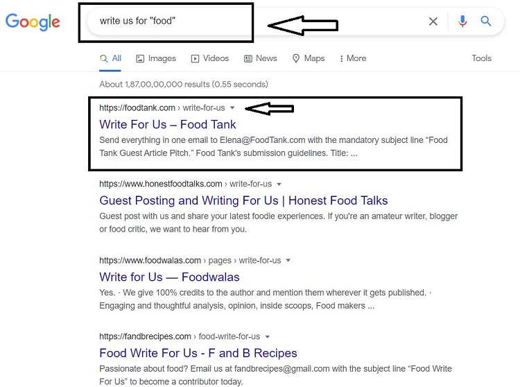 search guest posting Website